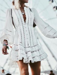 Fashion Lantern Sleeve Hollow Out Ruffles Lace Up Casual Dresses for women casual dresses for summer casual dresses modest casual dresses boho casual dresses for work Cute Casual Dresses, Modest Dresses, Dress Casual, Prom Dresses, Shift Dresses, Mini Dresses, Elegant Dresses, Wedding Dresses, Bridesmaid Gowns