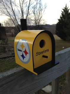Steelers Birdhouse by cyndisoriginals on Etsy, $20.00