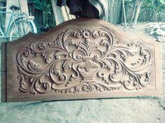 Bed Headboard Design, Headboards For Beds, Single Door Design, Wood Bed Design, Woodworking Bed, Carving Designs, Wood Beds, Wooden Art, Wooden Furniture