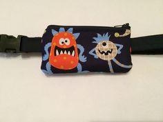 Navy Blue Monster Insulin Pump Pouch