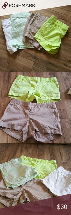 J Crew shorts bundle. 3 J Crew 1 Calvin Klein 3 broken in chino. All in excellent loved condition. Khaki and light green shorts maybe worn twice. J. Crew Shorts