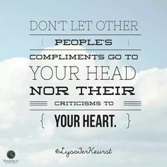 Compliments& criticisms
