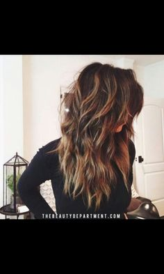 Laired hair with caramel locks