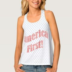 """America First"" Inauguration Quote Typography.  Custom apparel new in my Zazzle store."