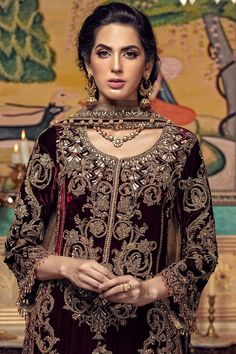 Maria B Couture Latest Fancy Formal Wedding Dresses 2019 Fancy Wedding Dresses, Dresses Elegant, Muslim Wedding Dresses, Formal Dresses For Weddings, Backless Wedding, Party Wear Dresses, Vintage Dresses, Formal Wedding, Gothic Wedding