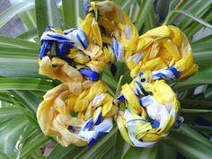 Plastic bag flower