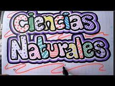 Como marcar un cuaderno de ciencias naturales - YouTube School Notes, My Notebook, Back To School, Banner, Bullet Journal, Lettering, Doodles, Graphic Design, Writing
