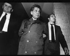 Nicky Scarfo getting arrested Real Gangster, Mafia Gangster, Little Nicky, Carlo Gambino, Mafia Crime, Al Capone, The Godfather, Philadelphia, Chef Jackets