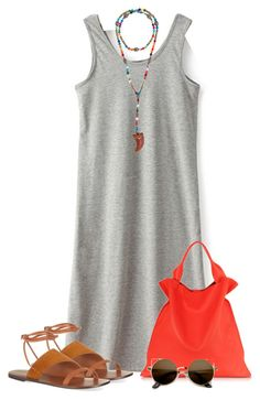 """Ready for Summer"" by mommygerloff ❤ liked on Polyvore featuring Hipchik, Sandro and Jil Sander"