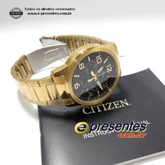 984b169acd4 AN8052-55E Relógio Citizen Dourado Quartz Cronografo WR50   Gerenciar  Produtos…