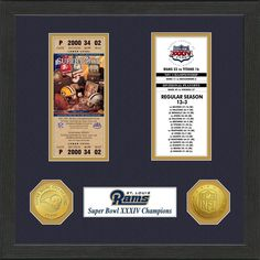 NFL St. Louis Rams Super Bowl Championship Ticket Collection