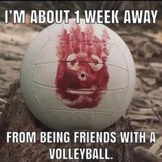 Wilson Cast Away Volleyball – It's Okay To Be Weird Haha Funny, Stupid Funny, Funny Jokes, Hilarious, Lol, Funny Stuff, Wall E, Funny Signs, Just For Laughs