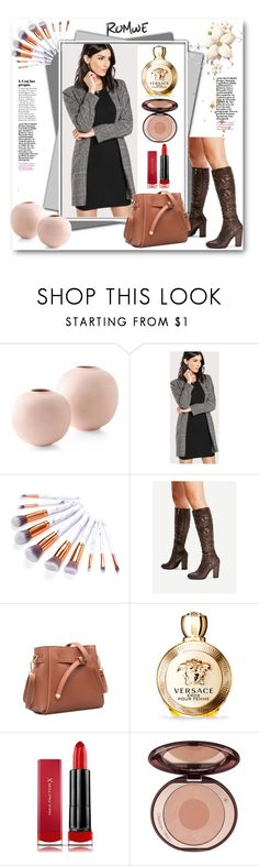 """""""ROMWE - 6"""" by thefashion007 ❤ liked on Polyvore featuring Versace and Max Factor"""