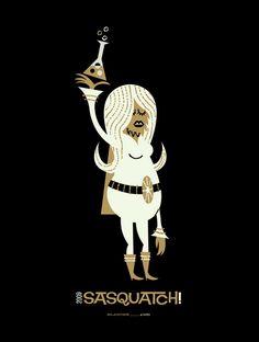 Sasquatch! Music Festival Poster (Blanche) by Invisible Creature
