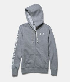 under armour favorite fleece full zip hoodie - true gray heather. $64.99.