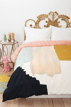 brush stroke duvet cover - great color combo