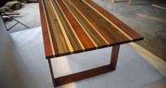 Great table, made of reclaimed wood.