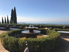 What a beautiful view of Lake Garda, a stunning private villa available as a Wedding Venue Lake Garda Wedding, Marry Me, Fountain, Wedding Planner, Wedding Venues, Dream Wedding, Villa, Tours, Italy