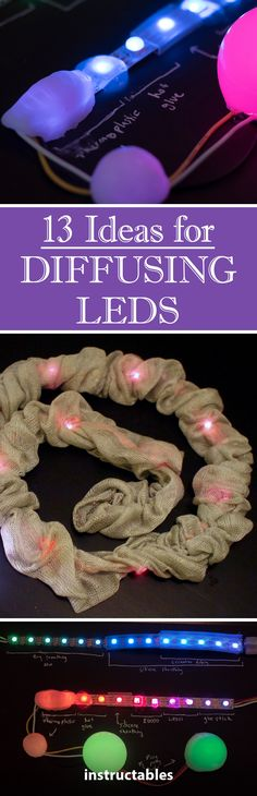 13 Ideas for Diffusing LEDs 13 Ideas for Diffusing LEDs Source by instructables. Electronics Projects, Consumer Electronics, Maker Labs, Electronic Kits, Diy Tech, House Wiring, Arduino, Room Interior, Interior Design