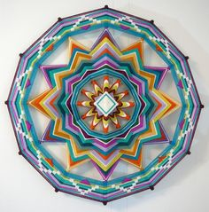 Sound of Silence, a 24 inch, 12-sided, Ojo de Dios Mandala. LOVE!