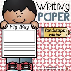 Writing Paper Landscape Edition is a packet of writing paper that can be used throughout the year. All the writing papers have a landscape orientation. The packet includes lined writing paper with a space for pictures, as well as, pages of only lined paper if you want to print front to back.