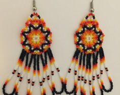 Handmade Native American Beaded Earrings by PeacefulBeadwork