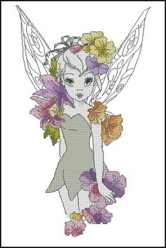 . Cross Stitch Designs, Cross Stitch Patterns, Cross Stitch Fairy, Cross Stitch Boards, Cute Dragons, Disney Princesses, Cross Stitching, Stitches, Needlework