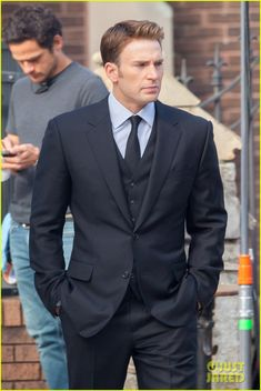 Me:  Oh, he looks so dapper in his three piece suit ;)  Wait...it's all black...why is it all black...(does a bit of research) it's all black because he's at a funeral...in London...a funeral that Sharon Carter is also at...guys... nooo...noooooo...we just got season 2 and now I'm going to die!!!! Plus, Bucky is in this movie.....why is everything about Steve Rogers pain and suffering?<-----