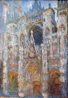 14. Claude Monet, Rouen Cathedral, Magic In Blue, 1894 Monet Paintings, Impressionist Paintings, Landscape Paintings, Claude Monet, Pierre Auguste Renoir, Edouard Manet, Artist Monet, Art Test, Rouen