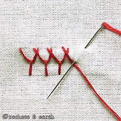 A great website with embroidery stitch tutorials