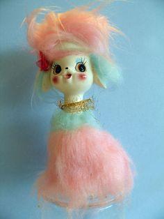 Vintage Pastel Fur Poodle