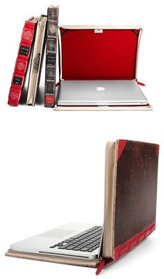 Leather book Macbook cases, from Twelve South by silvia -- What a cool idea!