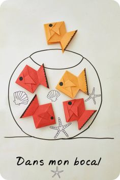 Origami Fish Magnets... Website has options for Translation~!