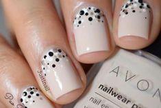 + 77 designs for trendy gel nails Polish colors 2018 - unhas - Dot Nail Art, Polka Dot Nails, Nail Art Diy, Easy Nail Art, Diy Nails, Cute Nails, Polka Dots, Polka Dot Pedicure, Nail Art Dotting Tool