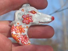 Flower greyhound brooch Greyhounds, Four Legged, Cool Diy, Fifty Shades, Tigger, My Best Friend, Dogs And Puppies, Deer, Brooch