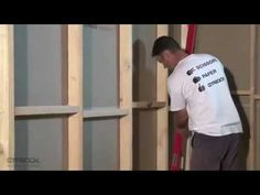 Installing Gyprock plasterboard - How to cut and install Gyprock cornice - YouTube