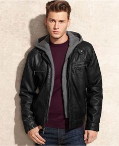Black Leather Jacket by Calvin Klein. Buy for $195 from Macy's