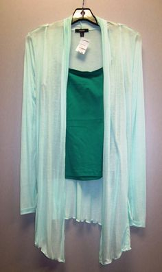 Cardigan 100% rayon S-M-L $9.99  Basic spaghetti strap 95% cotton 5% spandex S-M-L $3.99 *** available in many other colors ***