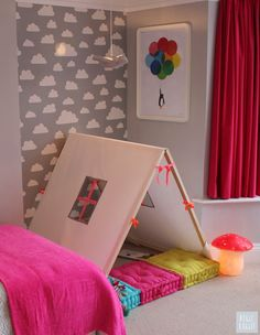"Makeover Tour: A Colorful and Quirky ""Big Girl Room"" Bedroom Makeover » Curbly 