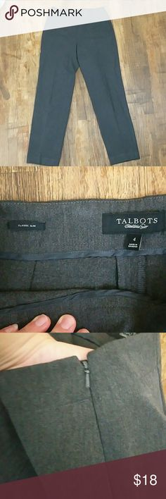 $ reduced! Talbots side zip gray pants size 4 Talbots side zip gray pants, size 4, in great used condition. Talbots Pants