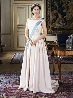 Simply stunning: Princess Mary is the picture of elegance in new images released by the Danish royal family