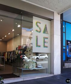Removable Decal, Printed SALE Decal, SALE signs, Retail Fashion, FIG Boutique 143 Toorak Road, South Yarra