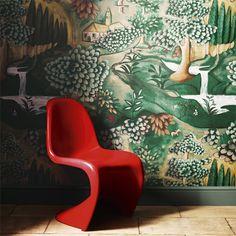 Melissa White for Zoffany Verdure Wallpaper 310431 Zoffany Wallpaper, Wall Wallpaper, Pattern Wallpaper, Sunroom Decorating, Interior Design Gallery, Piano Room, Design Repeats, Inspirational Wallpapers, Childrens Room Decor