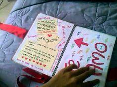 Regalo  para mi novio( cuaderno) - YouTube