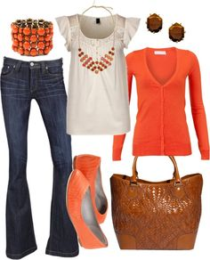 A fashion look from March 2012 featuring orange button shirt, vero moda shirt and Frankie B. Browse and shop related looks. Beauty And Fashion, Look Fashion, Passion For Fashion, Fashion Outfits, Womens Fashion, Fall Fashion, Mode Style, Style Me, Casual Outfits