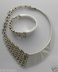 Taxco Set Necklace and bracelet for the fashionista! Silver Jewelry, Bracelets, Fashion, Charm Bracelets, Moda, Silver Jewellery, Bangles, Silver Decorations, Fasion