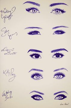 The eyes of miley and demi :3 <3 i actually love demi.