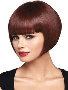 Popular Auburn Straight Short Hair Chin Length Bob Wigs,JFW0009