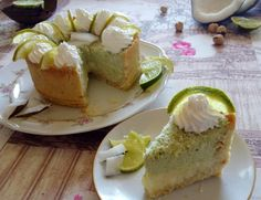 Torta freddda al cocco e lime  Coconut and lime cake