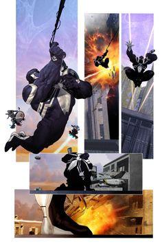 Venom Space Knight #1 Panels  - Ariel Olivetti